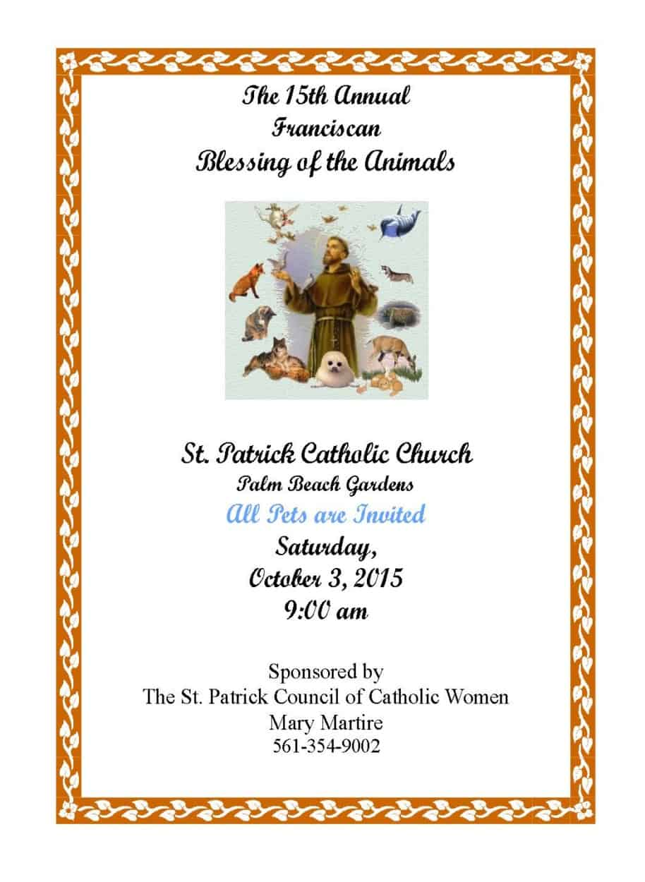 Blessing of the animals genesis assistance dogs - St patrick s church palm beach gardens ...