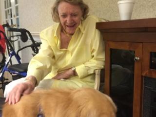 Rocco visits Noreen Mackeen Nursing Home.