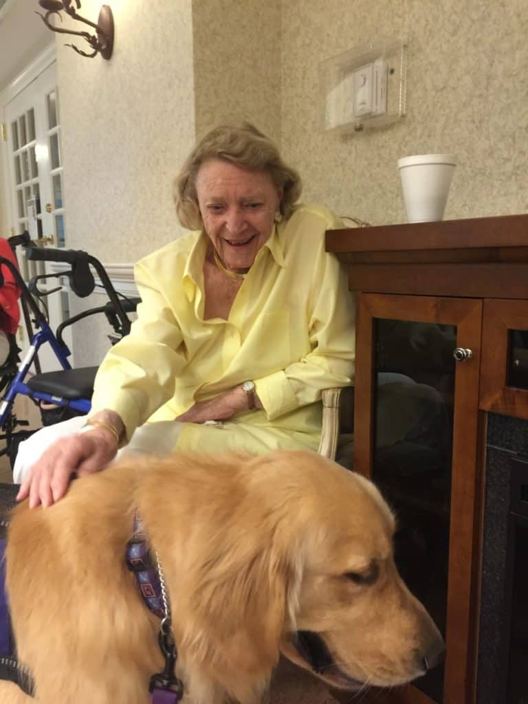 Rocco visits Noreen Mackeen Nursing Home.